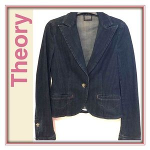 Theory Denim Blazer / Jacket (szP)